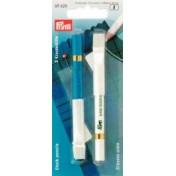 Карандаши меловые белый и синий со стирающей кисточкой  PRYM 611626
