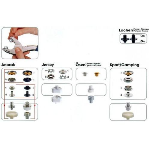 Набор кнопок с щипцами Vario Plus PRYM 651420 - Интернет-магазин