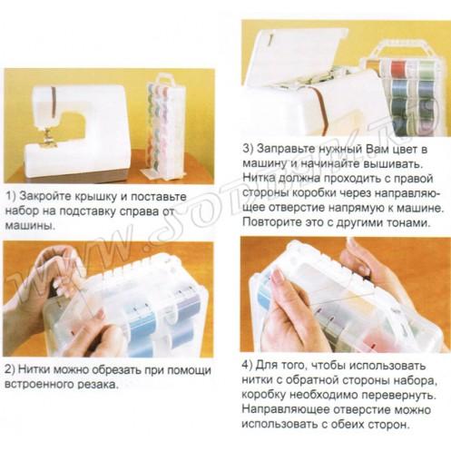 Набор вышивальных ниток MADEIRA Rayon 1000м - Интернет-магазин