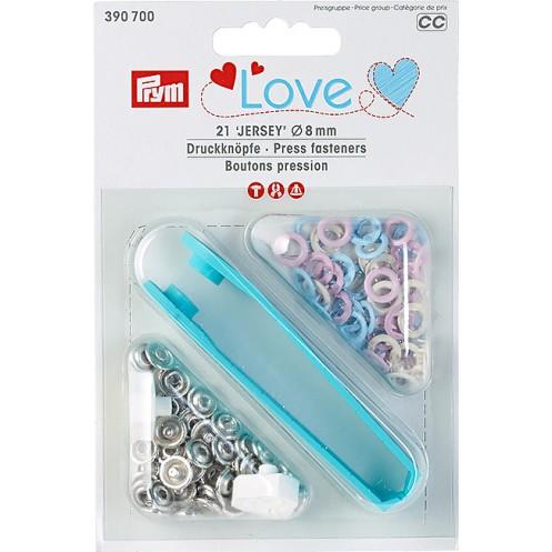 """Кнопки """"Джерси"""" розовые, голубые, жемчужные 8 мм PRYM Love 390700 - Интернет-магазин"""