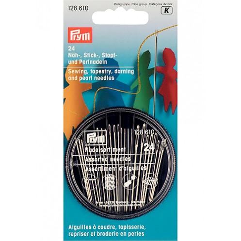 Набор игл для шитья, вышивания, штопки и бисероплетения  PRYM 128610 - Интернет-магазин