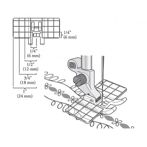 Лапка для декоративных строчек с мультинаправителем HUSQVARNA 4133371-45 - Интернет-магазин