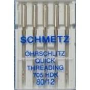 Иглы SCHMETZ универсальные с прорезью для быстрой заправки №80 (5)