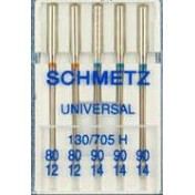 Иглы SCHMETZ универсальные №80(2)-90(3)