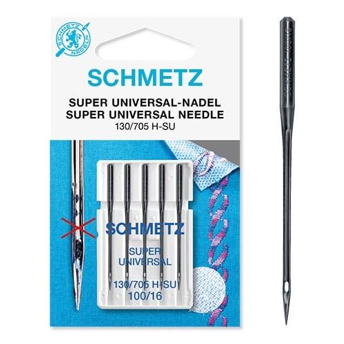 Иглы SCHMETZ супер универсальные с покрытием антиклей №100 - Интернет-магазин