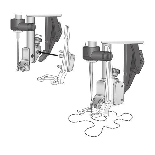 Открытая лапка для простегивания в технике свободного передвижения PFAFF 821140-096 - Интернет-магазин
