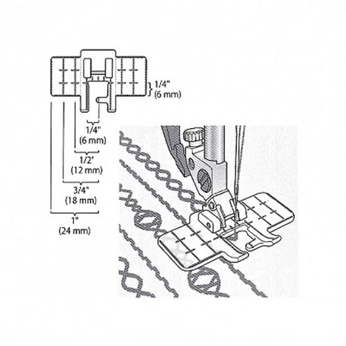 Лапка для декоративных строчек с мультинаправителем PFAFF 821082-096 - Интернет-магазин
