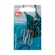 Застежка для бикини прозрачная 25мм PRYM 416160