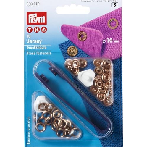 Кнопки Джерси золотистые, 10 мм PRYM 390119 - Интернет-магазин