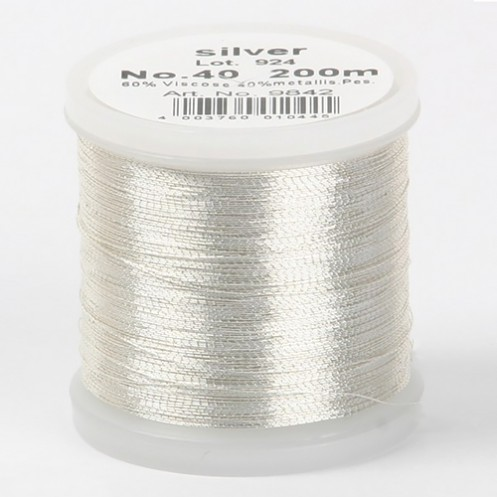 MADEIRA Metallic №40 200м цвет silver - Интернет-магазин