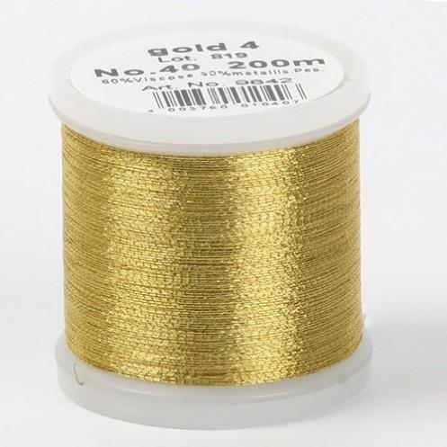 MADEIRA Metallic №40 200м цвет gold-4 - Интернет-магазин
