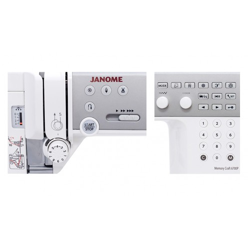 JANOME Memory Craft 6700P Professional - Интернет-магазин