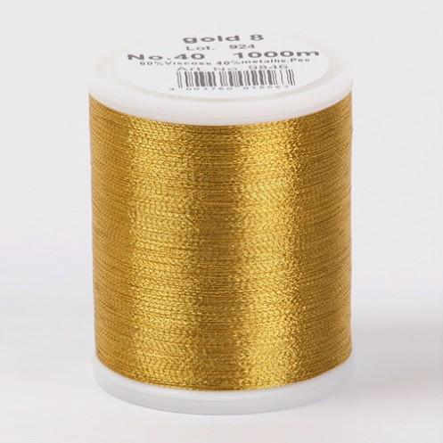 MADEIRA Metallic №40 1000м цвет gold-8 - Интернет-магазин