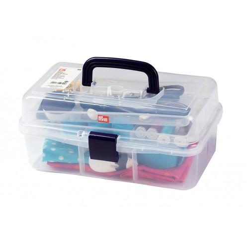 Коробка для аксессуаров прозрачная, с выдвижными ярусами PRYM 612725 - Интернет-магазин
