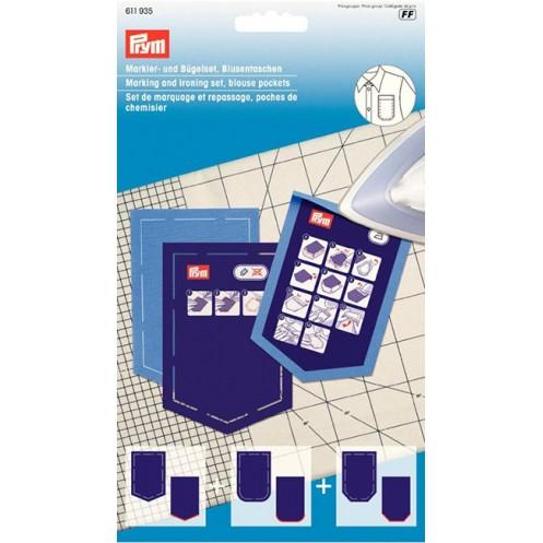 Набор шаблонов карманов для блузки для маркировки и глажки PRYM 611935 - Интернет-магазин