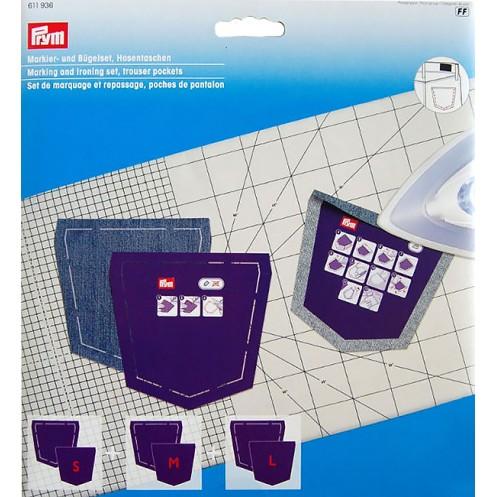 Набор шаблонов карманов для блузки для маркировки и глажки PRYM 611936 - Интернет-магазин