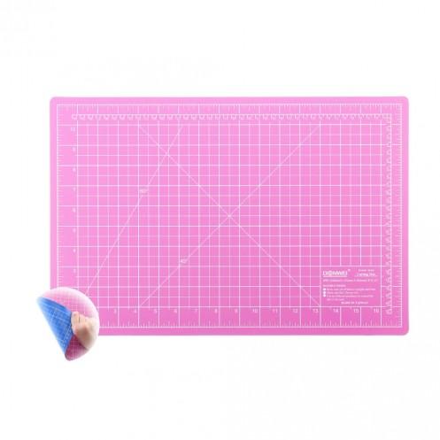 Коврик розово-голубой для раскройных ножей 30x45 см DONWEI DW-12123 (АС) - Интернет-магазин