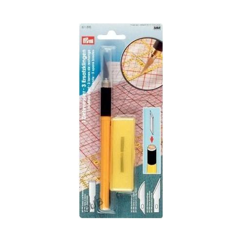Макетный нож с тремя специальными лезвиями PRYM 611395 - Интернет-магазин