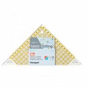Треугольник с сантиметровой шкалой до 15 cм PRYM 611314