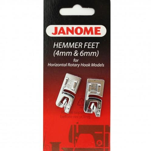 Набор из двух лапок  для подрубки - 4мм и 6мм JANOME 200326001 - Интернет-магазин