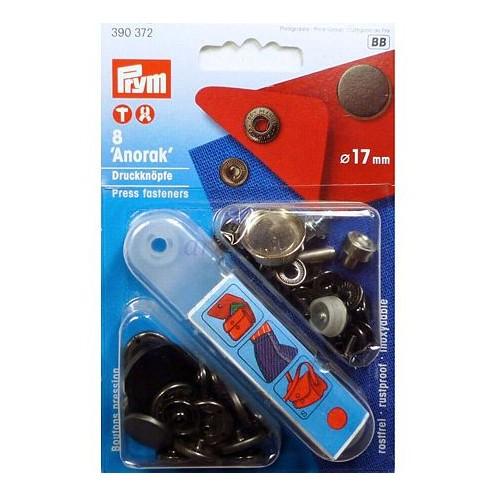 Кнопки Анорак черные, 17 мм PRYM 390372 - Интернет-магазин