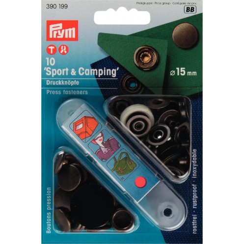 Кнопки Спорт и Кэмпинг латунь, 15 мм PRYM 390199 - Интернет-магазин