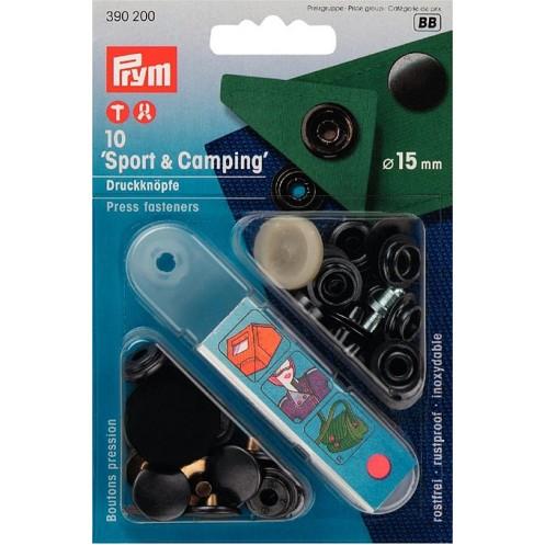 Кнопки Спорт и Кэмпинг черные, 15 мм  PRYM 390200 - Интернет-магазин