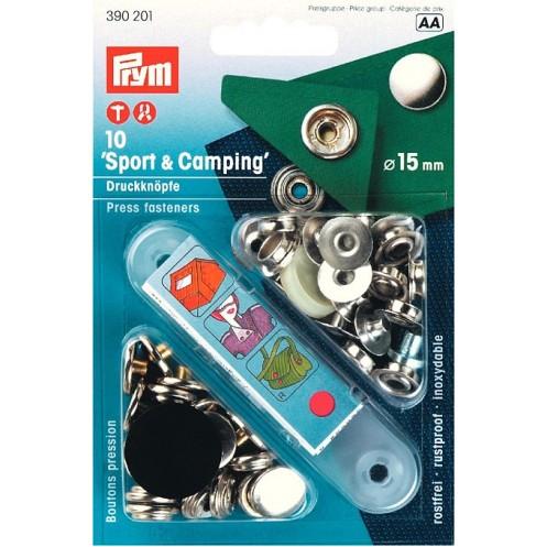 Кнопки Спорт и Кэмпинг серебристые, 15 мм PRYM 390201 - Интернет-магазин