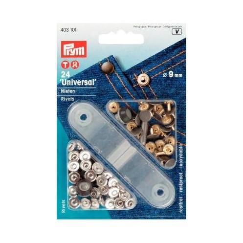 Клёпки серебристые/железо, 9 мм PRYM 403101 - Интернет-магазин